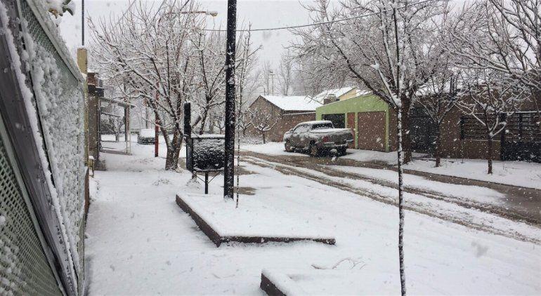 Catriel quedó cubierta por una intensa nevada
