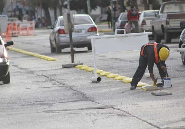 Intensos trabajos en las calles cipoleñas