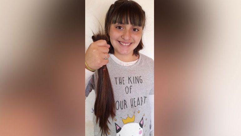 Tiene 10 años y dejó crecer su pelo para donarlo por segunda vez a los pacientes con cáncer