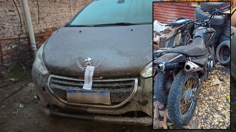 Encuentran en Catriel una moto robada en Cipolletti y un auto de Neuquén