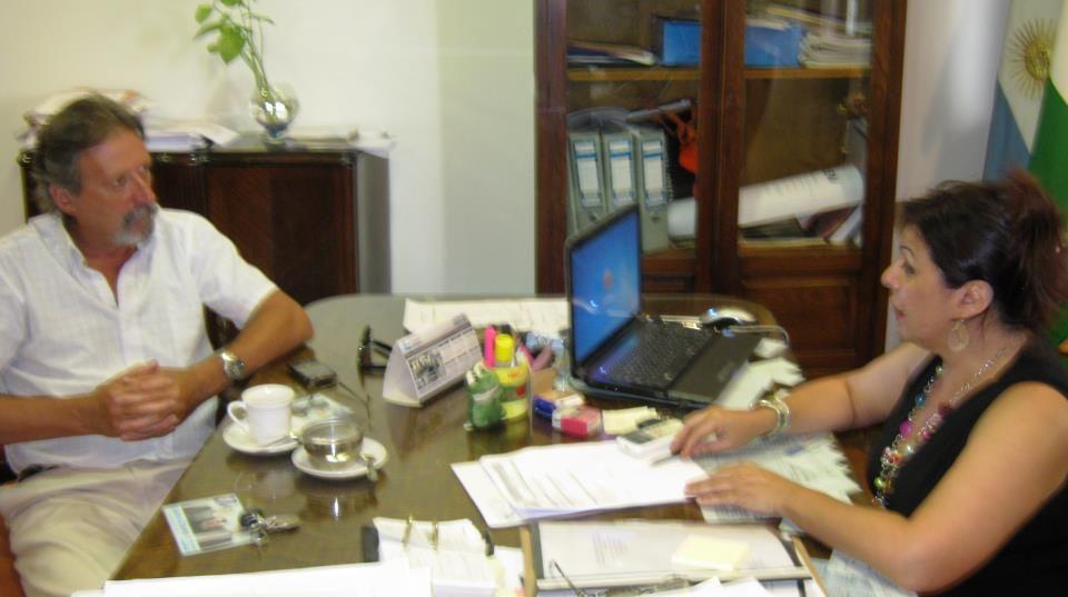 Barragán se reunió con la intendenta Sabina Costa