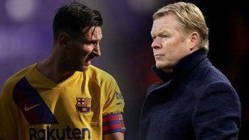 El nuevo DT del Barcelona y Messi, una relación que duró poco.
