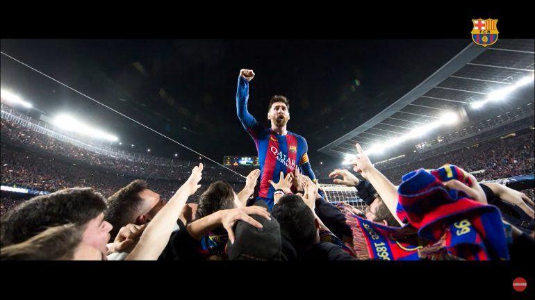 El impresionante video con el que Barcelona despidió a Messi