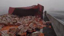 un camionero murio tras perder el control sobre la ruta 22