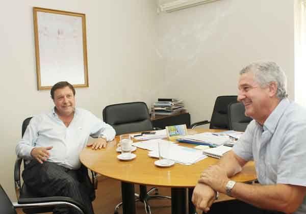 Weretilneck y Baratti repasaron obras prioritarias para la ciudad