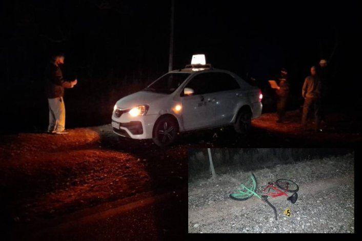 Ciclista en contramano quiso cruzar la Ruta 151 y fue embestido por un auto