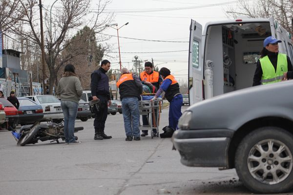 Motociclista herido en un accidente
