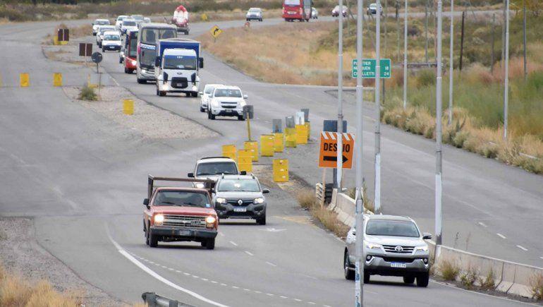 Ruta 22: desvíos en un sector del tramo Senillosa-Arroyito