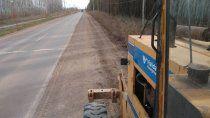 mejoran tramo de una transitada ruta del alto valle rionegrino