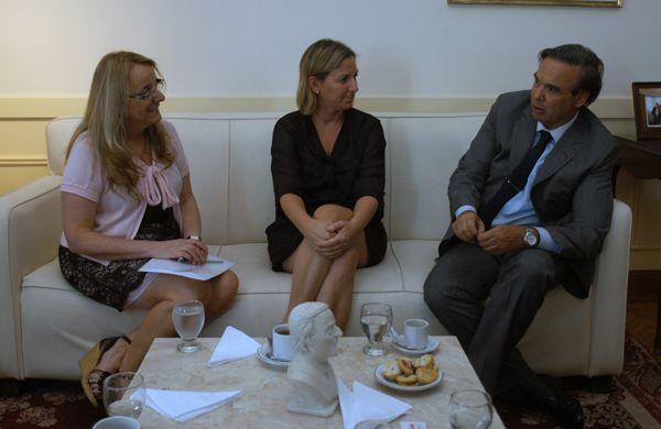 Pichetto se reunió con Alicia Kirchner y la intendenta interina de Bariloche