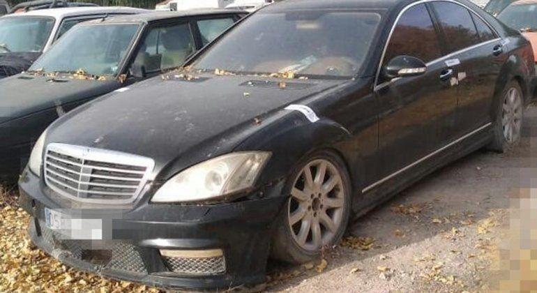 Secuestraron un Mercedes-Benz con patente española