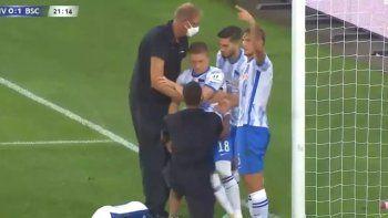 Preocupación: Ascacíbar marcó un gol, pero lo noqueó el arquero