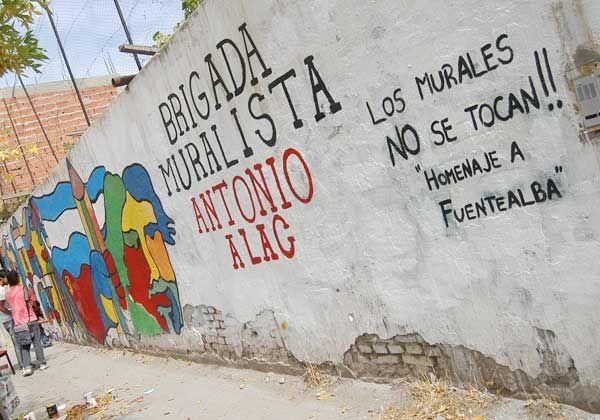 Polémica por un mural en el centro