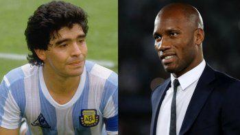 La emotiva carta de Drogba a Maradona: Encontrarme con vos fue el mejor día de mi carrera