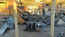 bariloche: murio atrapado al incendiarse su casilla de madera