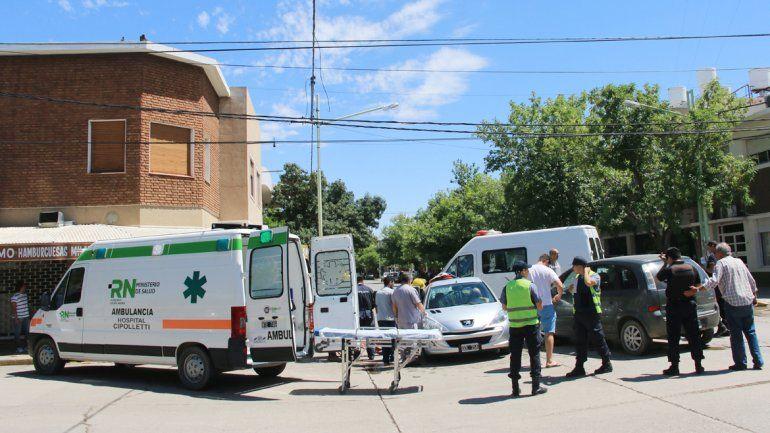 Uno de los choques se produjo en la esquina de Belgrano y 9 de Julio.