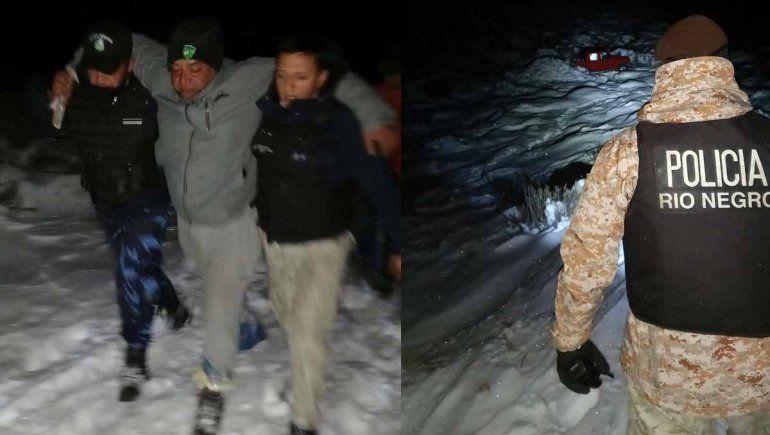 Policías caminaron 10 kilómetros para rescatar a un hombre