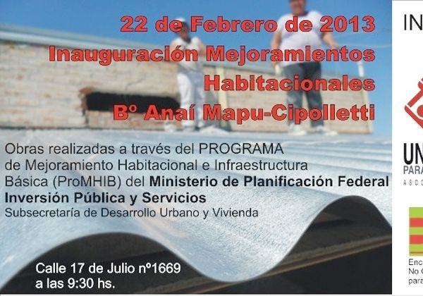 Inauguran mejoras habitacionales en el Mapu