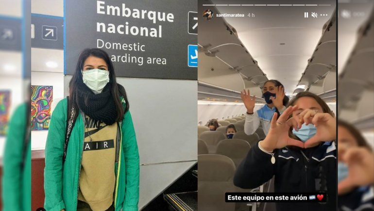 La atleta cipoleña ya despegó al Sudamericano en el avión que alquiló Santi Maratea
