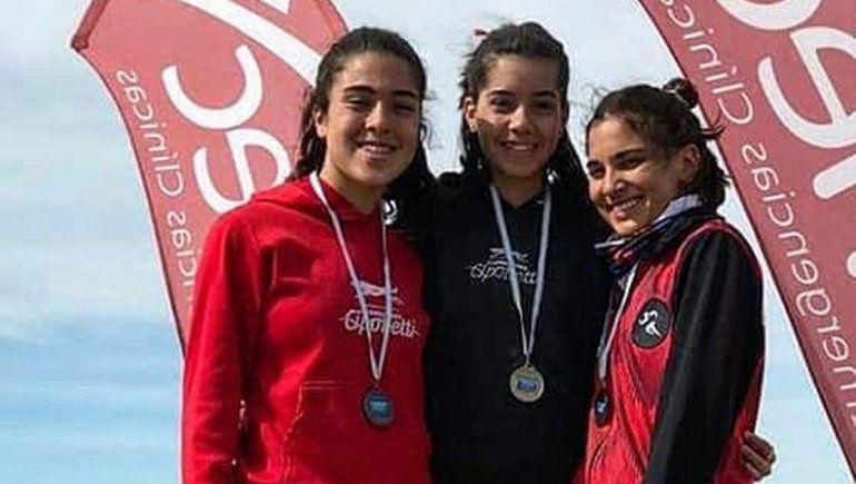 Las cipoleñas coparon el podio del Nacional de atletismo