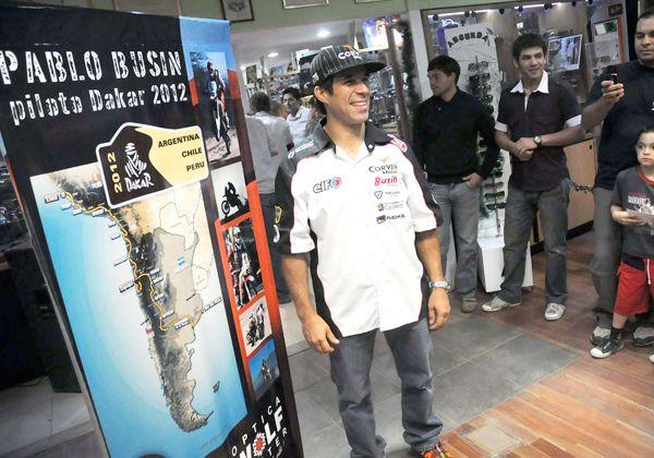 Busin partió hacia el Rally Dakar