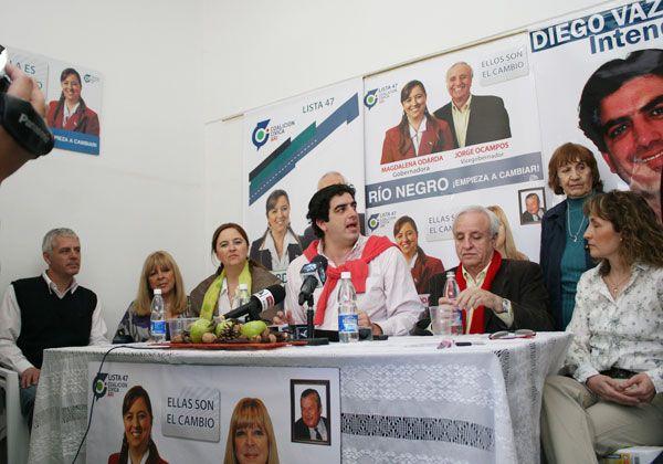 Odarda apoyó a candidatos locales