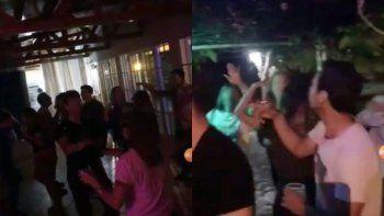 escandalo: hicieron una fiesta clandestina y lo mostraron en sus redes