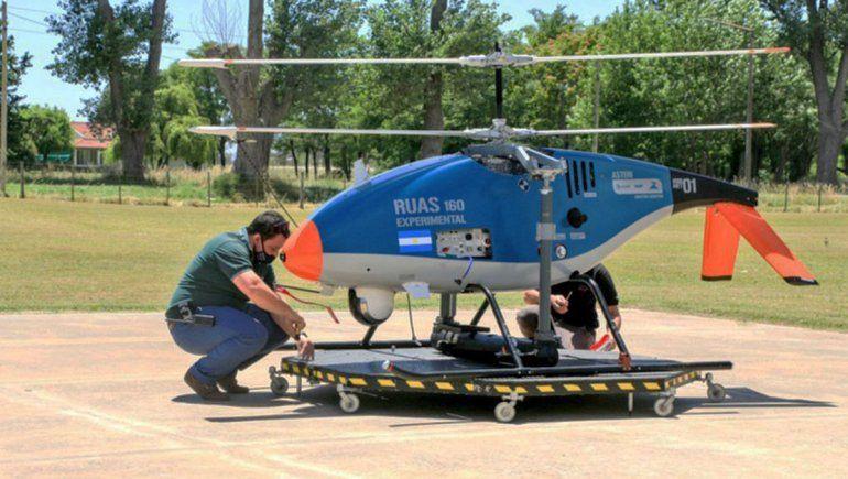Invap creó un mini-helicóptero no tripulado que es furor