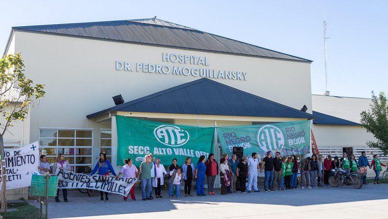 Alerta por paro y movilización en el hospital cipoleño