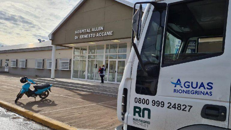 Aguas Rionegrinas realizó mantenimientos cloacales en hospitales del Alto Valle