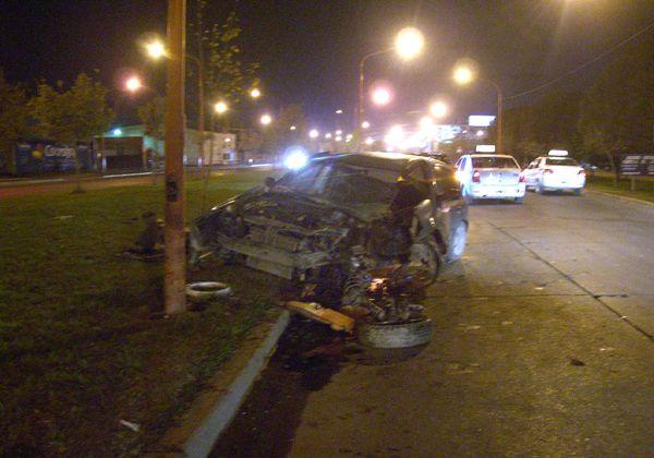 Accidente de tránsito en calle Pacheco