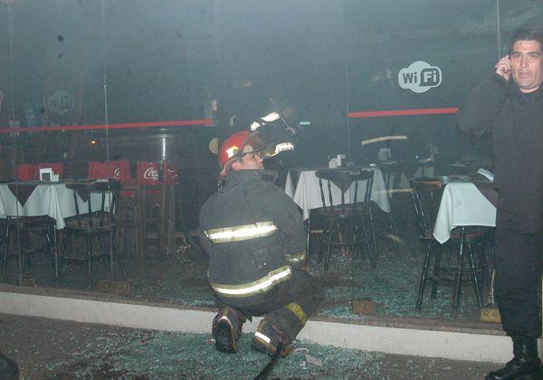 Incendio en la confitería Capuccino