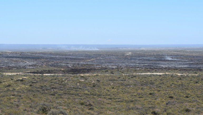 Las Grutas: incendio rural generó nerviosismo en Nochebuena