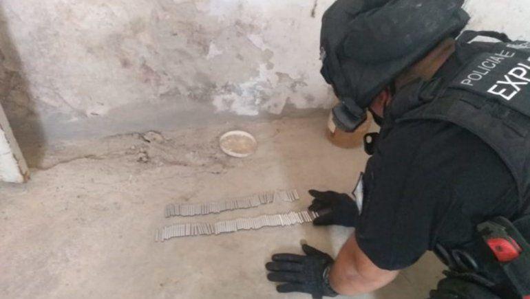 Secuestraron más de 60 explosivos militares en una casa