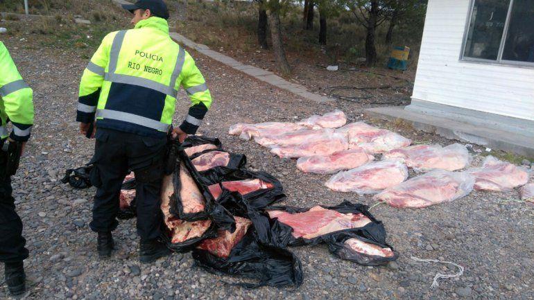 Decomisaron más de 600 kilos de carne vacuna con hueso en la Ruta 151