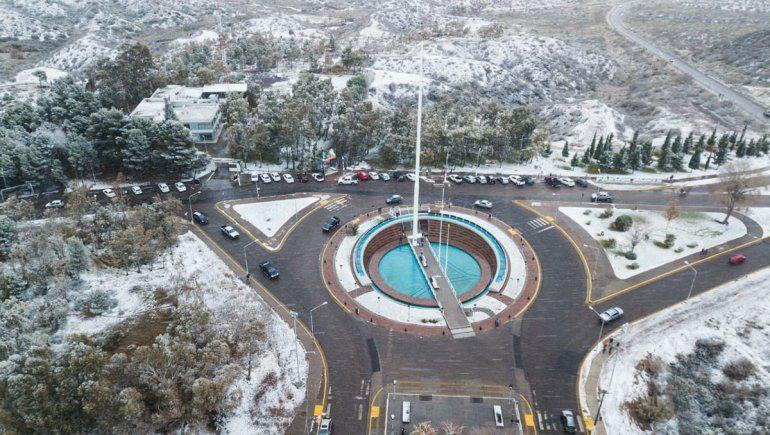 La nieve en el Alto Valle vista desde un drone