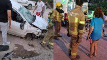 brutal accidente en el ingreso a la isla jordan