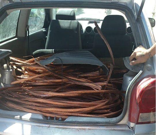 Golpe al contrabando de cables de cobre en Cipolletti