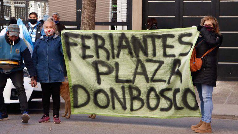 Feriantes del Don Bosco mantienen firme su postura: No nos vamos a ir