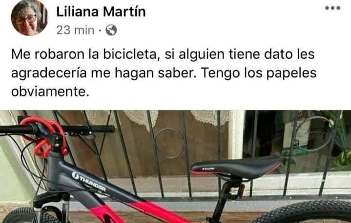 Le robaron la bici a la intendenta de Allen y las redes explotaron