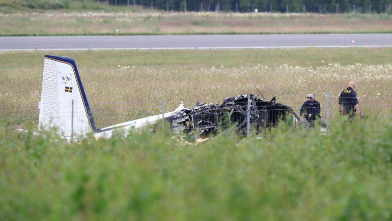Se estrelló un avión en Suecia: nueve muertos