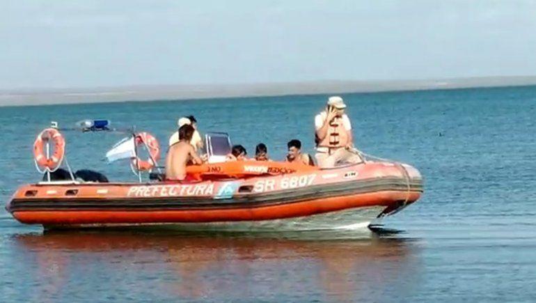 Así fue el rescate de la nena de siete años en el lago Pellegrini