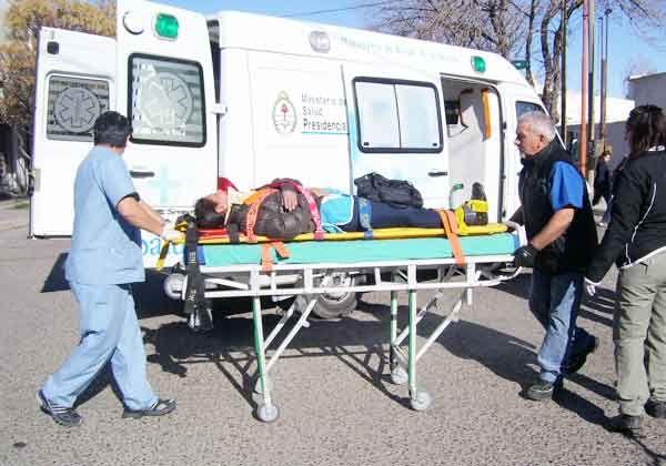 Una ciclista herida por una colisión