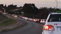 El caos vehicular se dio en horas pico.