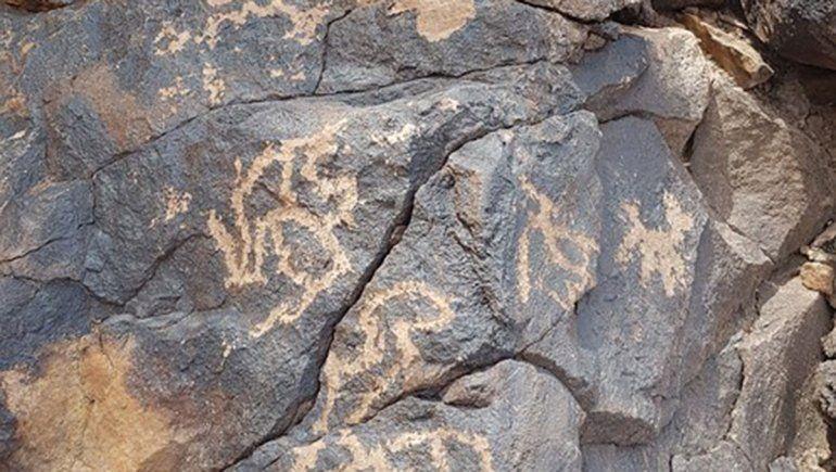 San Juan: encuentran arte rupestre en una zona precordillerana