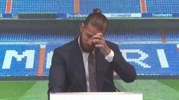 Entre lágrimas y con palos a Florentino, Sergio Ramos se despidió del Real Madrid
