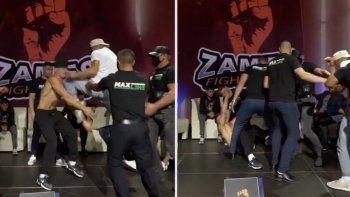 Escándalo: noqueó a su rival antes de la pelea con brutal rodillazo