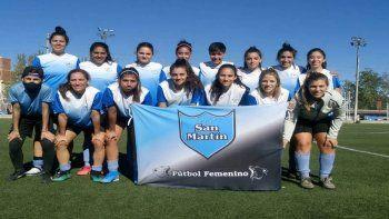 San Martín de Cipolletti. Fútbol femenino primera división de la Liga Confluencia.