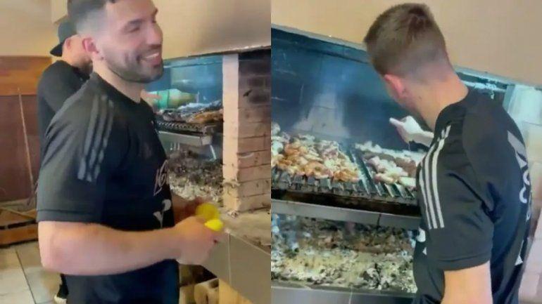 Cumple de Messi: hubo asado y un show del Papu Gómez