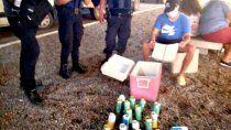 Las bebidas alcohólicas secuestradas.